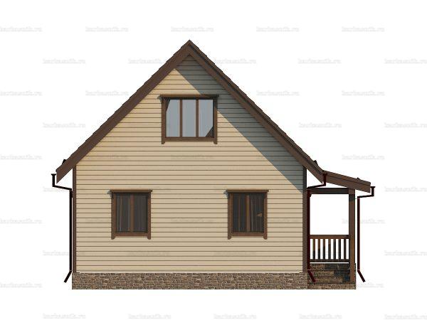 Щитовой дом с мансардой 9х7 фото 3