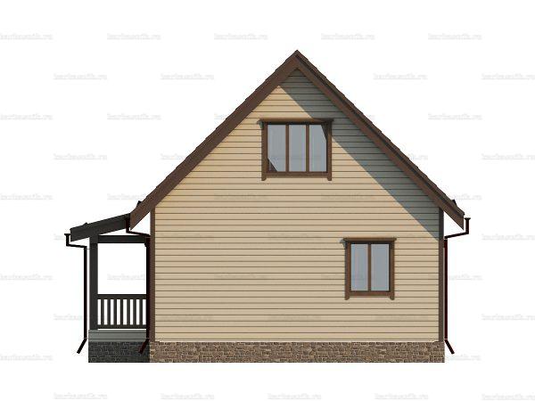 Щитовой дом с мансардой 9х7 фото 5