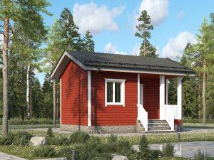 Одноэтажный щитовой дом 6х4.5