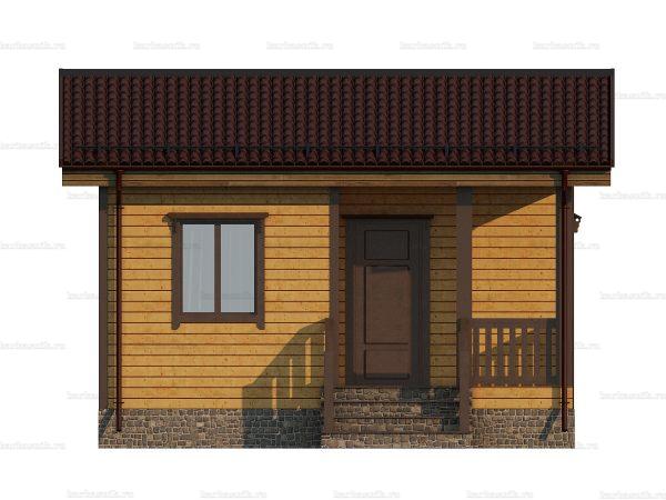 Проект дачного домика 6х4.5 для проживания