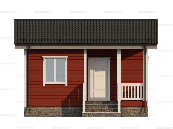 Проект каркасного дачного дома 6х4.5 для строительства под ключ