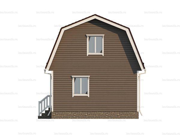 Недорогой дом с мансардой 8х6 фото 4