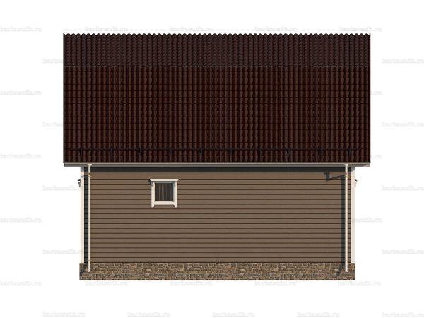 Недорогой дом с мансардой 8х6 фото 3