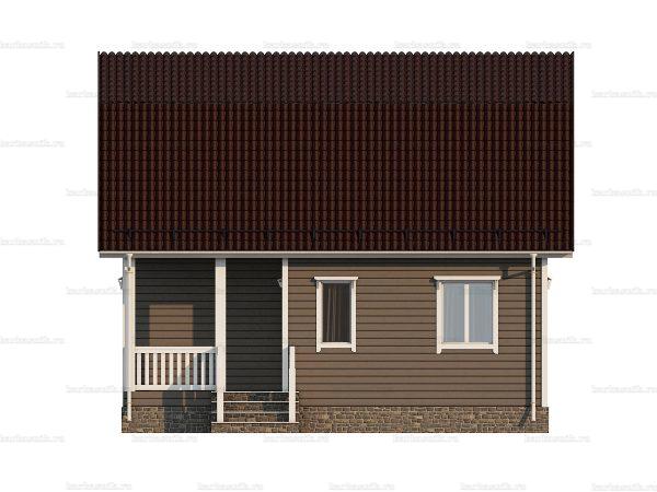 Недорогой дом с мансардой 8х6 фото 5