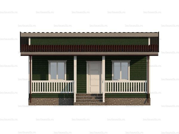 Проект каркасного дачного дома 8х6 для строительства под ключ