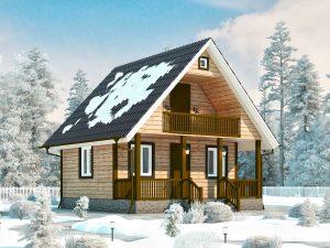 Дом из дерева 7х7