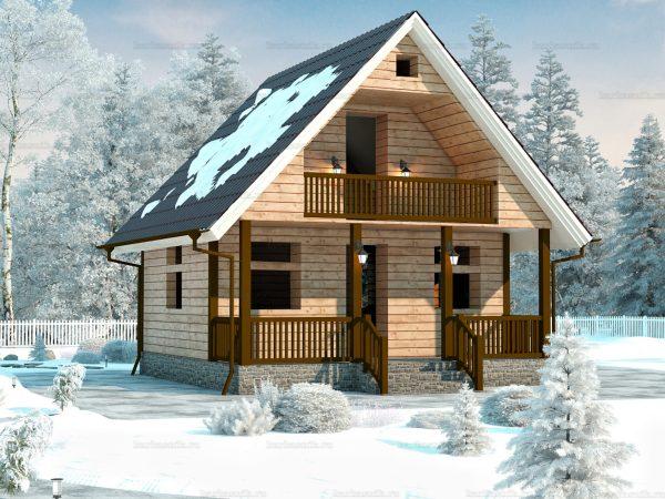 Проект дачного домика 7х7 для проживания