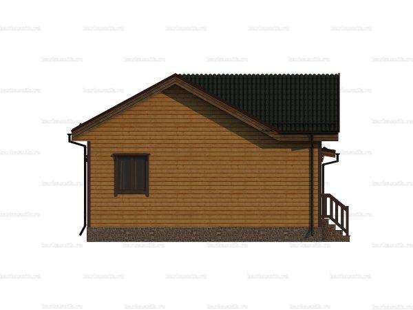 Брусовой дом 10х8 фото 3