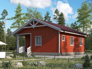 Одноэтажный дом с коттельной 9х8