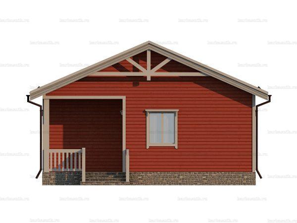 Проект каркасного зимнего дома 9х8 для строительства под ключ