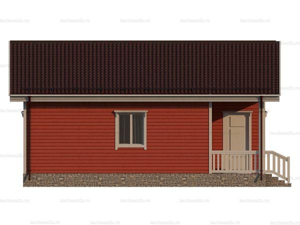 Одноэтажный дом с коттельной 9х8 фото 3