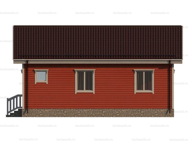 Одноэтажный дом с коттельной 9х8 фото 5