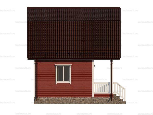 Дачный дом с балконом 6х6 фото 3