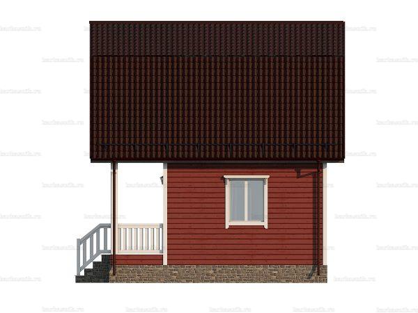 Дачный дом с балконом 6х6 фото 5