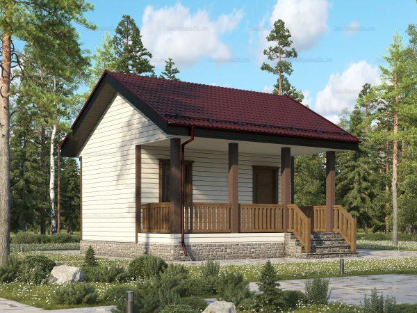 Дачный дом с туалетом 6 на 6
