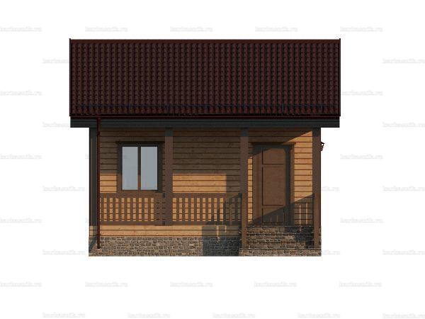 Проект дачного домика 6х6 для проживания