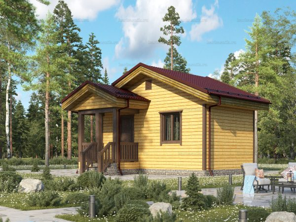 Дом для дачного участка 6х4