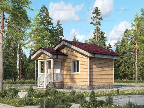Дачный дом с одной спальней 6х4