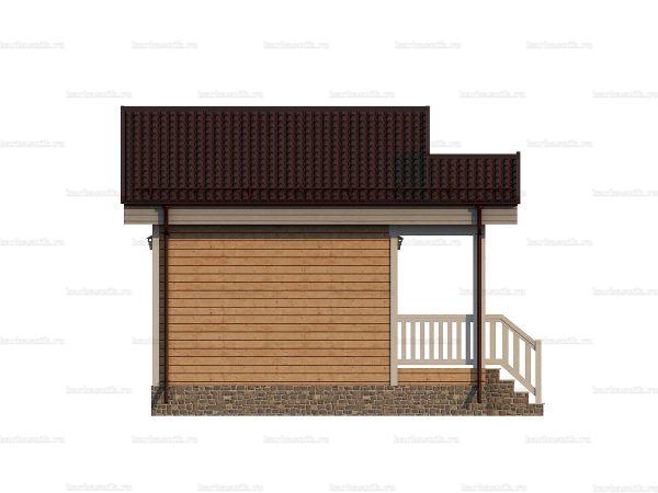 Дачный дом с одной спальней 6х4 фото 3