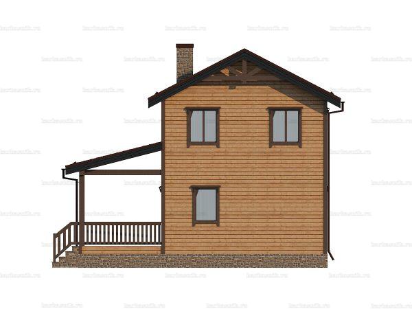 Дом из профилированного бруса 9х7.5 фото 3