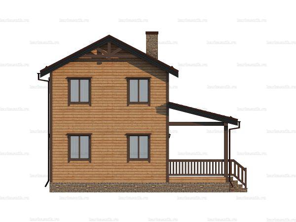 Дом из профилированного бруса 9х7.5 фото 5