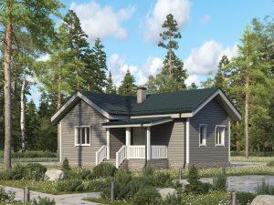 Одноэтажный каркасный дом 10х7