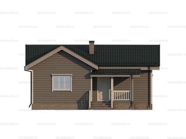 Проект каркасного зимнего дома 10х7 для строительства под ключ