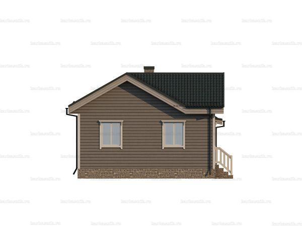 Одноэтажный каркасный дом 10х7 фото 3