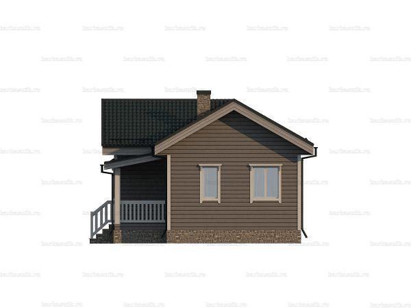 Одноэтажный каркасный дом 10х7 фото 5