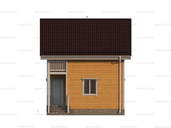Проект деревянного коттеджа 6х6 из бруса для постоянного проживания зимой