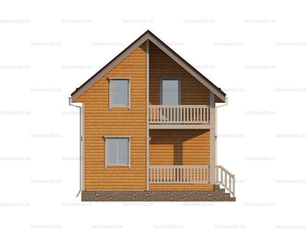 Дом из дерева 6х6 фото 3