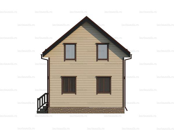 Недорогой дом с балконом 6х6 фото 4