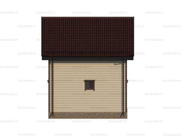 Недорогой дом с балконом 6х6 фото 3