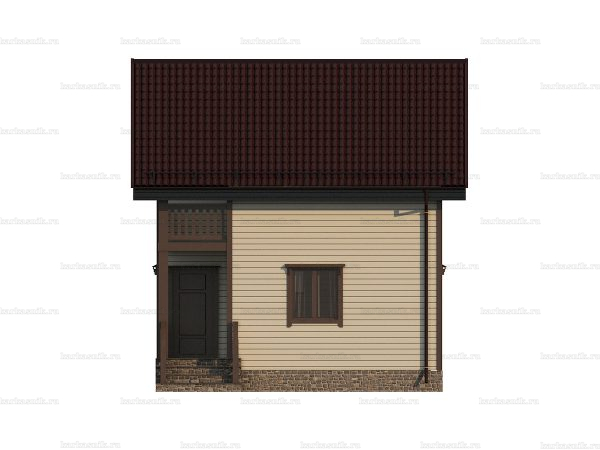 Недорогой дом с балконом 6х6 фото 5