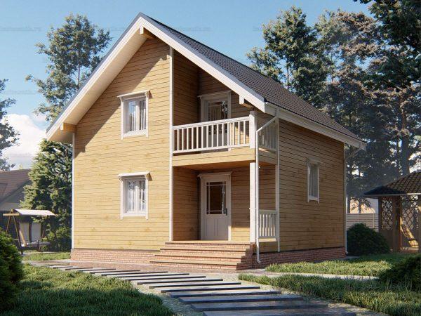 Дом с утеплением 7.5х7.5