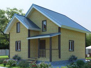 Дом с утеплением 8х8