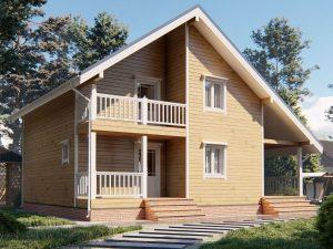 Дом с мансардой 9х8