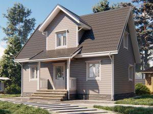 Недорогой дом для круглогодичного проживания 6х9
