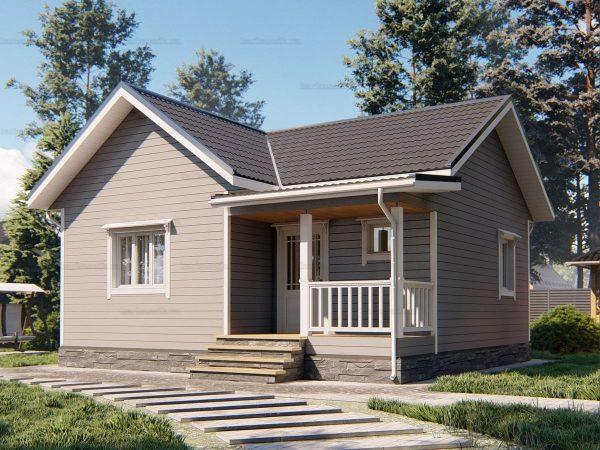 Дом с двумя комнатами для проживания 8х7.5