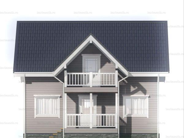 Зимний дом с двухскатной кровлей 9 на 6 фото 3