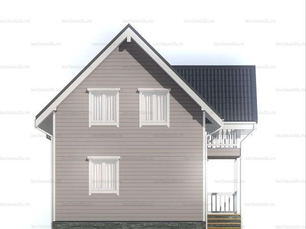 Зимний дом с двухскатной кровлей 9 на 6 фото 4