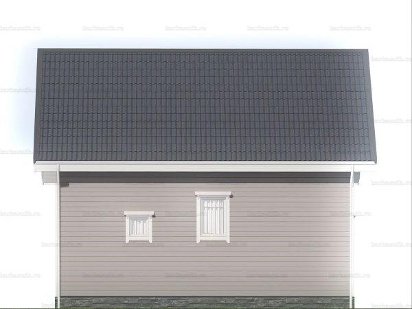 Зимний дом с двухскатной кровлей 9 на 6 фото 5
