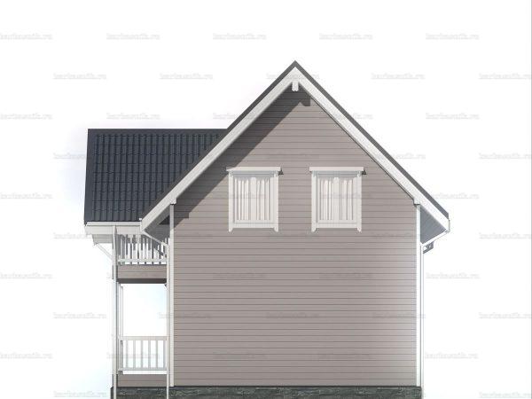 Зимний дом с двухскатной кровлей 9 на 6 фото 6