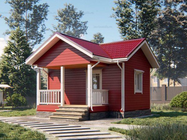 Дачный дом с одной комнатой 6 на 4