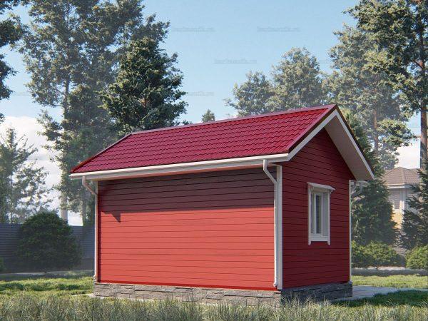Проект каркасного дачного дома 6х4 для строительства под ключ