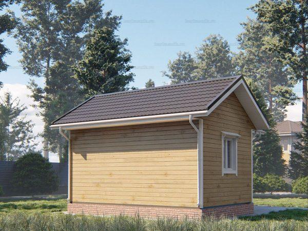 Проект дачного домика 6х4 для проживания