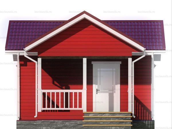 Дачный дом с одной комнатой 6 на 4 фото 3