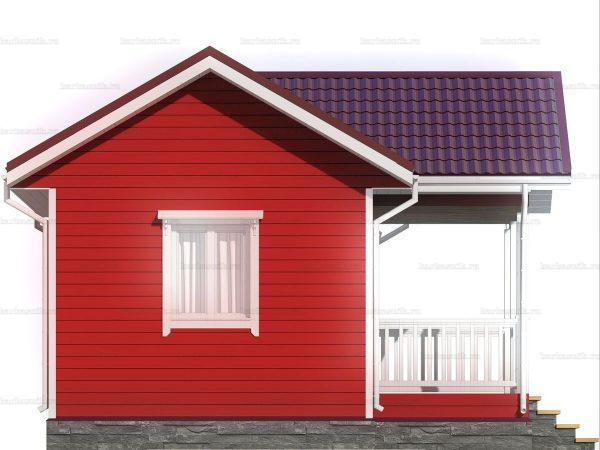 Дачный дом с одной комнатой 6 на 4 фото 4
