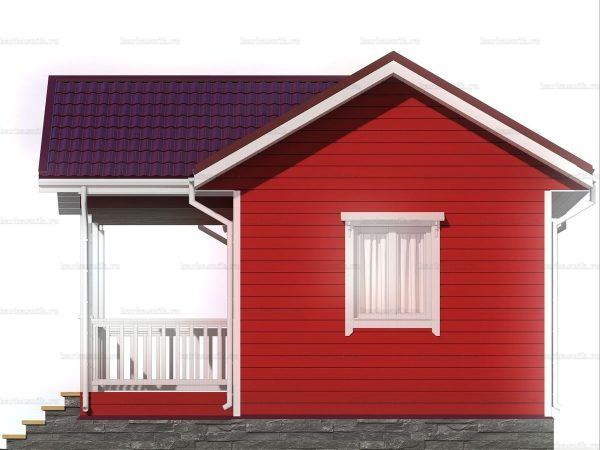 Дачный дом с одной комнатой 6 на 4 фото 6
