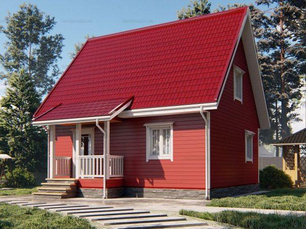 Загородный дом для проживания 8х7